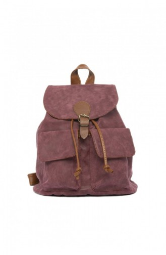 Claret red Back Pack 87001900031766