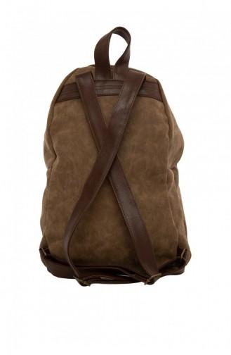حقيبة ظهر بني مائل للرمادي 87001900038626