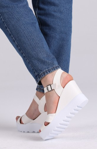 Chaussures a Talons Blanc 98801-1
