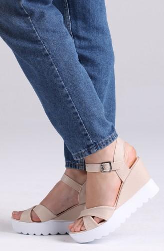 Chaussures a Talons Crème 98804-4