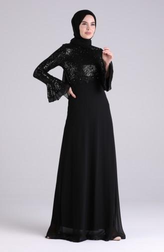Habillé Hijab Noir 5901-02
