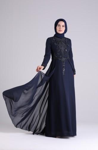 Habillé Hijab Bleu Marine 9211-03