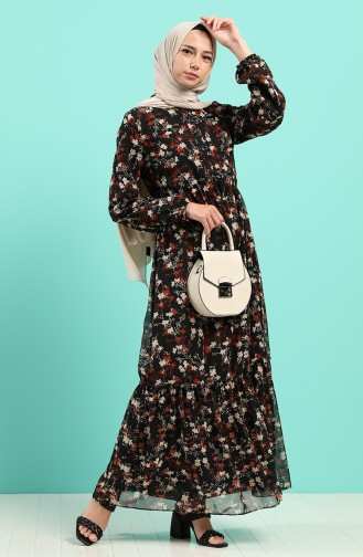 Robe Hijab Noir 7687-01
