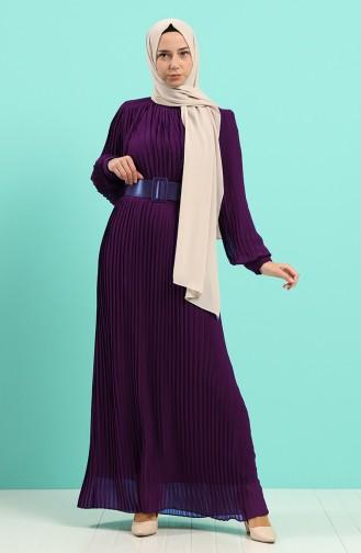 Robe Hijab Pourpre 7686-01
