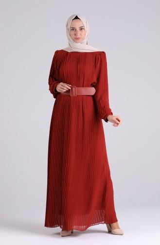 Robe Hijab Couleur brique 7686-02