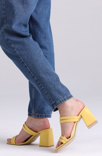 Yellow Summer slippers 0830-03