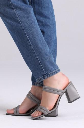 Gray Summer slippers 0830-05