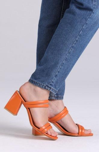 Claquettes d`été Orange 0830-07