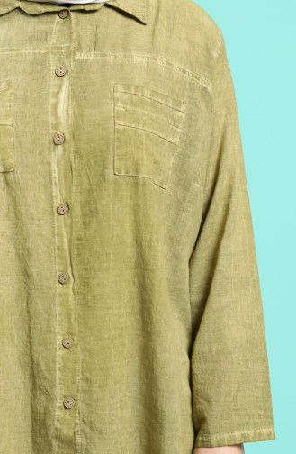 Khaki Hemd 4007-07
