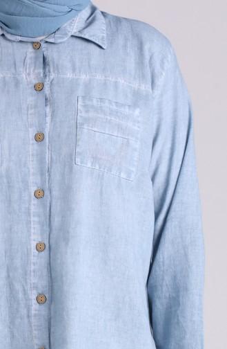 Blau Hemd 4007-08