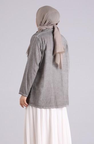 Grau Hemd 4007-10