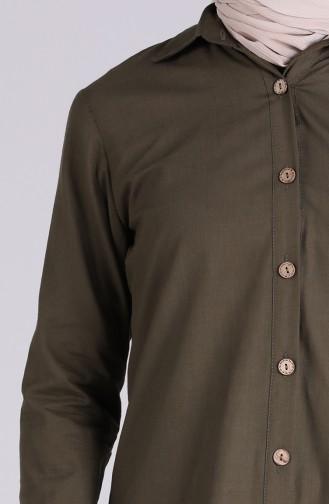 Khaki Hemd 3071-06