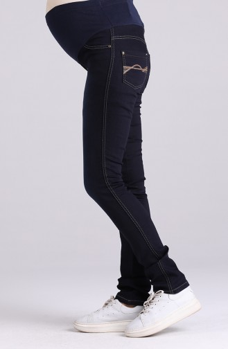 Pantalon Bleu Marine 0385-01
