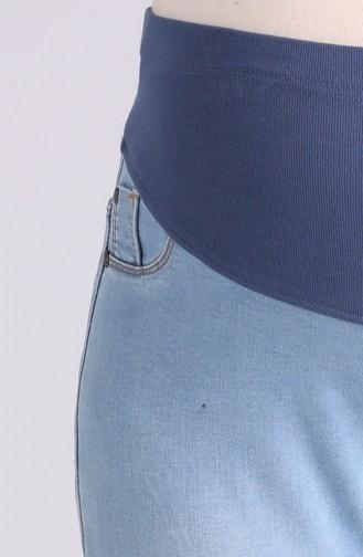 Pantalon Bleu Glacé 0433-02