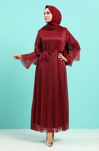 Habillé Hijab Bordeaux 2037-01