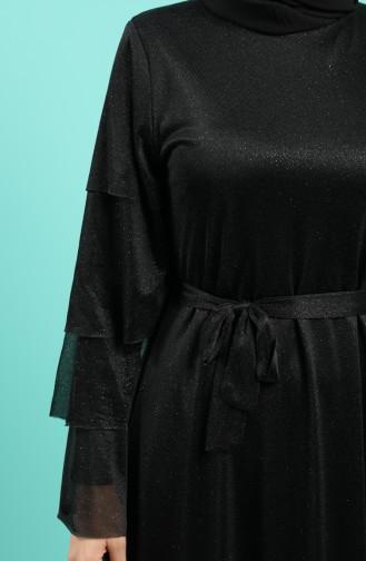 Habillé Hijab Noir 2037-04