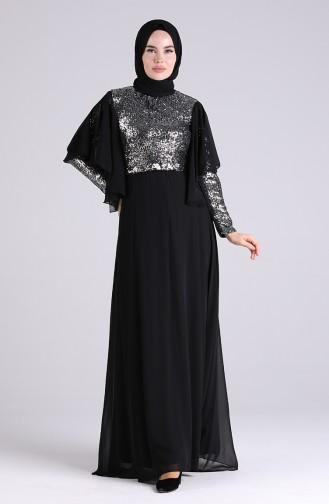 Habillé Hijab Gris argenté 9536-01