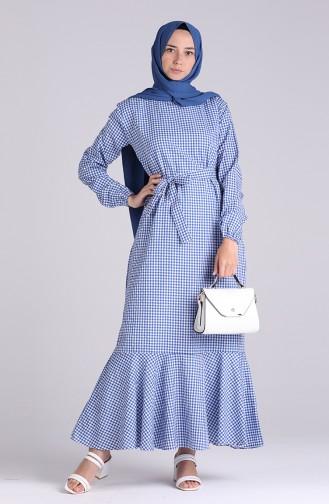 Saks-Blau Hijap Kleider 4624-05