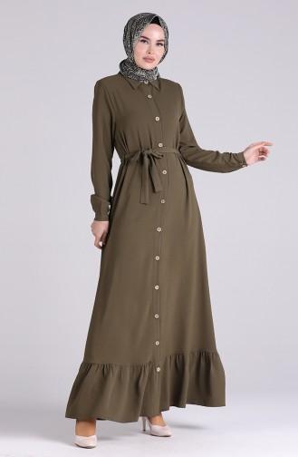 Khaki Hijap Kleider 5946-02
