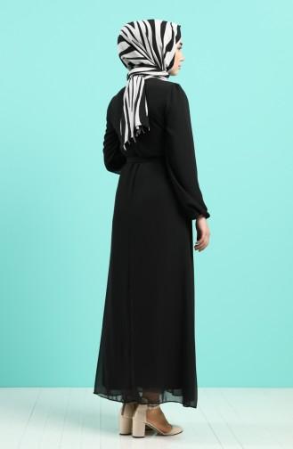 Schwarz Hijap Kleider 3055-03