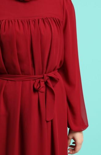 Robe Hijab Bordeaux 3055-05