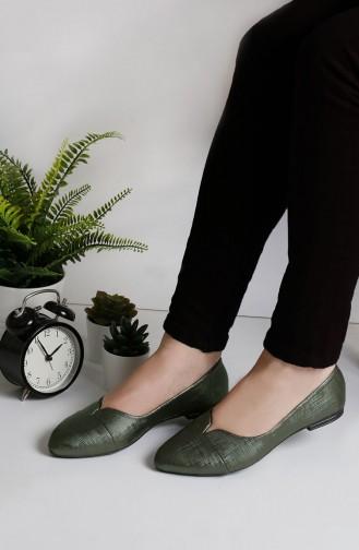 حذاء مسطح أخضر حشيشي 0171-08