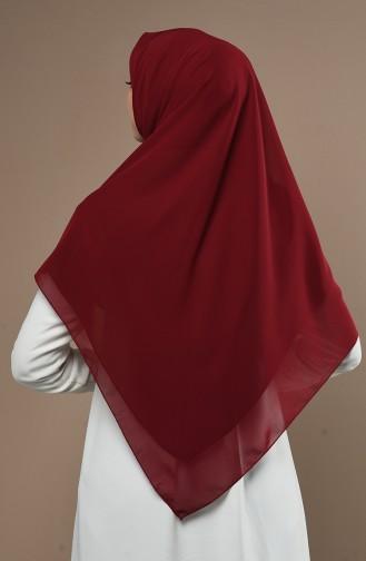 Claret red Hoofddoek 33