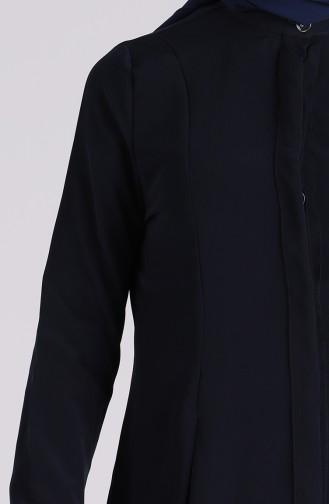 Düğmeli Gömlek 6000-01 Lacivert 6000-01