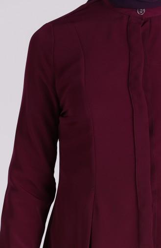 Düğmeli Gömlek 6000-03 Mor