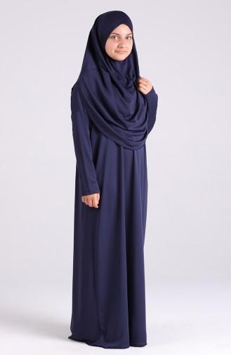 Waiter Size Prayer Dress 0930-02 Navy Blue 0930-02