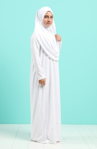 White Praying Dress 0930-06