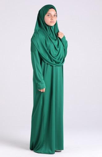 Smaragdgrün Gebetskleid 0930-07