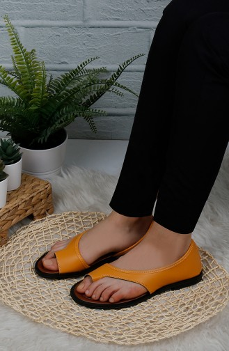 Sandales D`été Couleur safran 0173-01