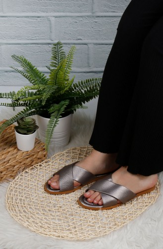 Silver Gray Summer slippers 0002-09