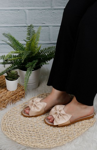 Cream Summer slippers 0004-16