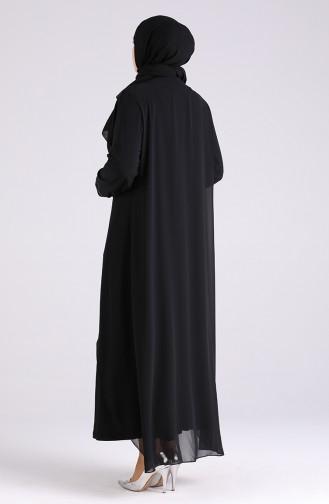 Habillé Hijab Noir 4528-02