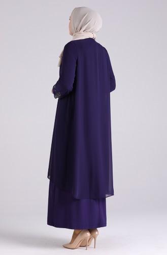Lila Hijab-Abendkleider 3157-01
