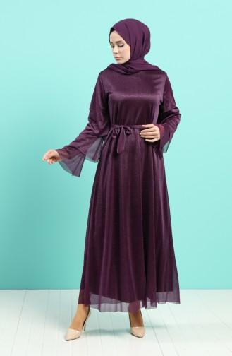 Purple İslamitische Avondjurk 2037-02