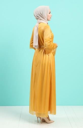 Habillé Hijab Moutarde 2037-05