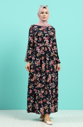Robe Hijab Bleu Marine 0743A-02