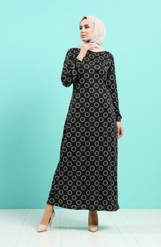 Robe Hijab Noir 8878-01