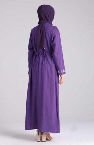 Purple İslamitische Jurk 0074-04