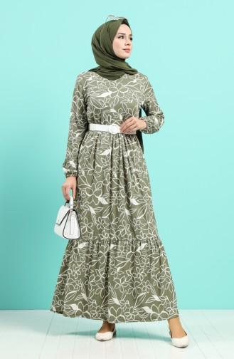 Khaki Hijap Kleider 0378-01