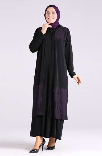 Robe Hijab Pourpre 7053-02