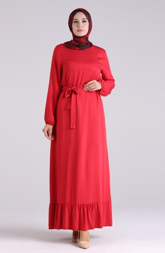 Robe Hijab Rouge 1302-01