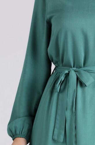 Unreife Mandelgrün Hijap Kleider 1302-02