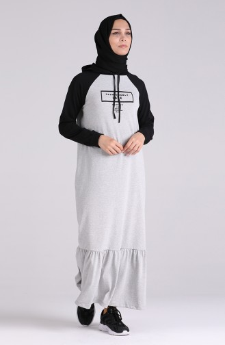 فستان رمادي 0511-04