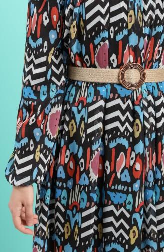 Robe Hijab Bleu 3053-01