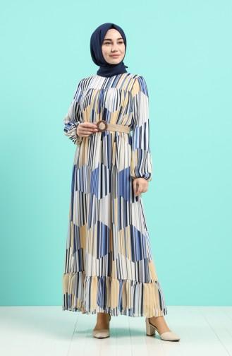 Senf Hijap Kleider 3054-01
