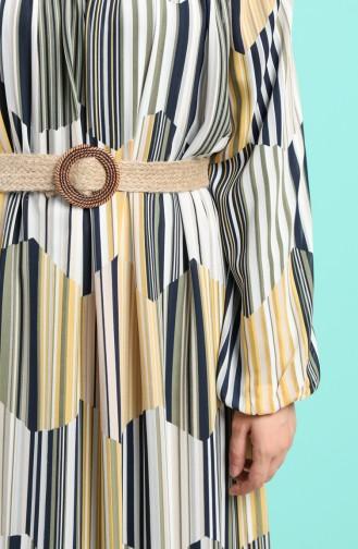 فستان أصفر خردل 3054-02